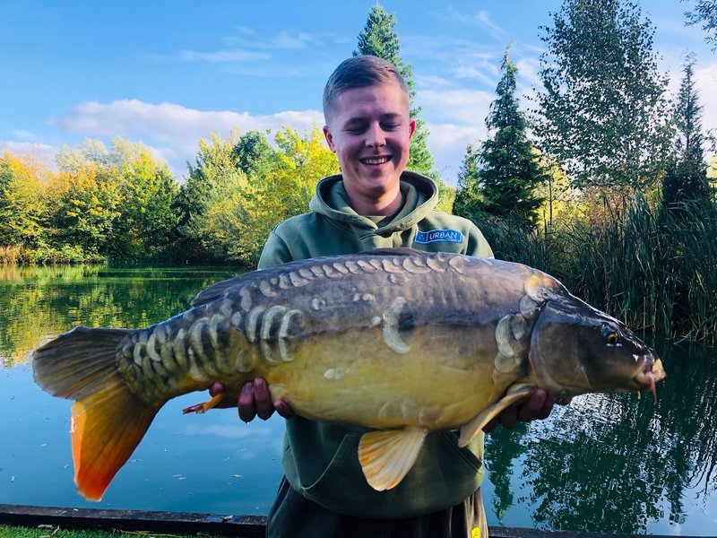Luke with another cracking Carp. This time a Mirror of 18lb