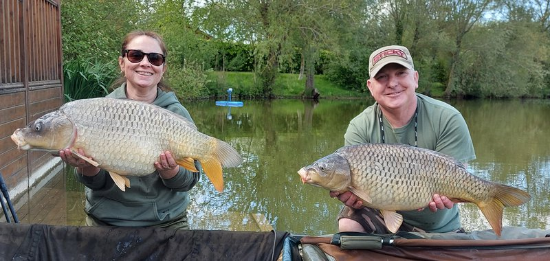 Marc and Leigh-Ann campion. 20-04 Ghost Common and 16lb Common