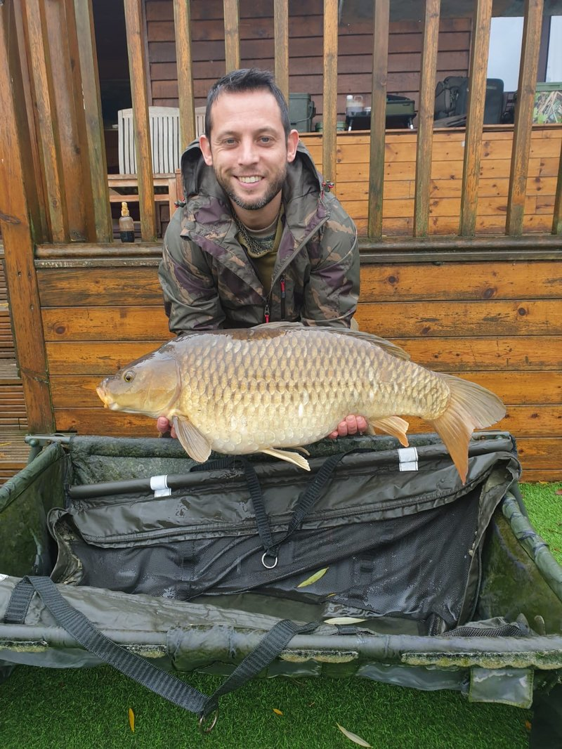 Steve Jarman with the second of his brace of twenties. A 21lb Common