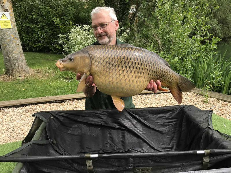 David Lee with a lovely 25-04 Cherry Lake Common from the Cottage swim