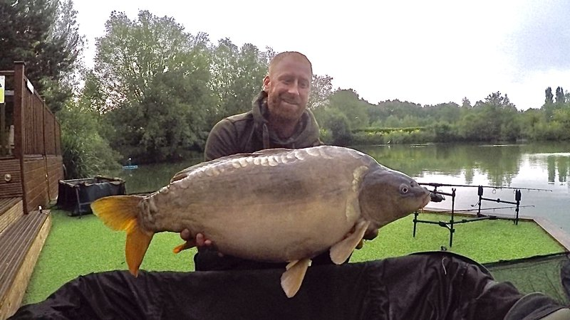 Nick Atkinson with his new PB. A Mirror of 27-12