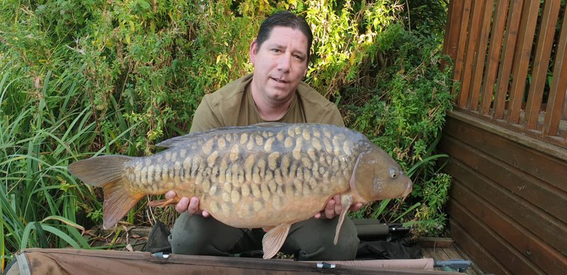 David Barter with his leaving gift! A Fully scaled Mirror of 28-02