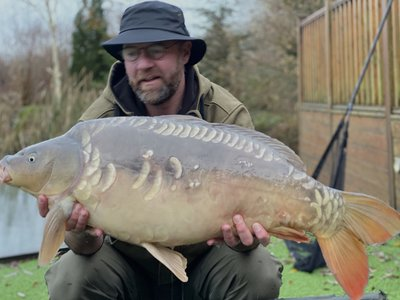 Gary Owen with a 30-08 Mirror from Cherry Mere