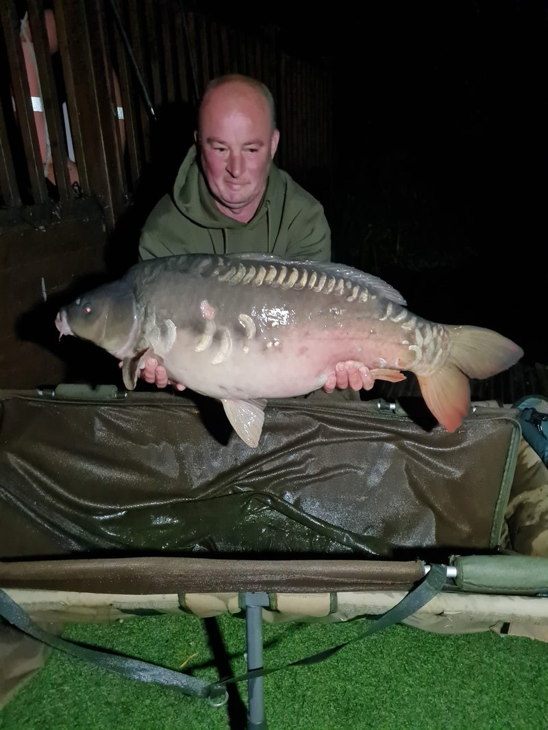 Fishery manager Dave with his new lake record. A Mirror of 36-04