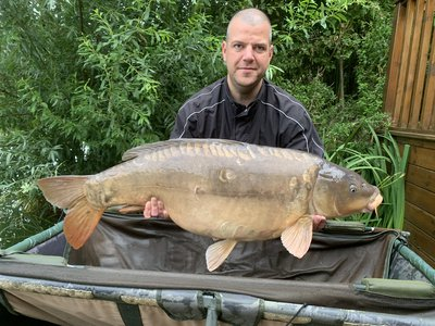 James Hine with 'Ruby' at 41-08 from Grebe Lodge
