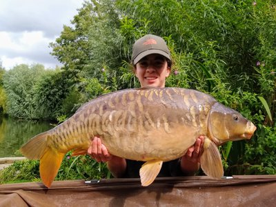 Hannah Alam with a lovely 22-12 Mirror from Cherry Springs