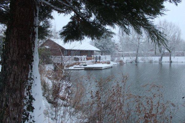 Pochard Lodge in the snow