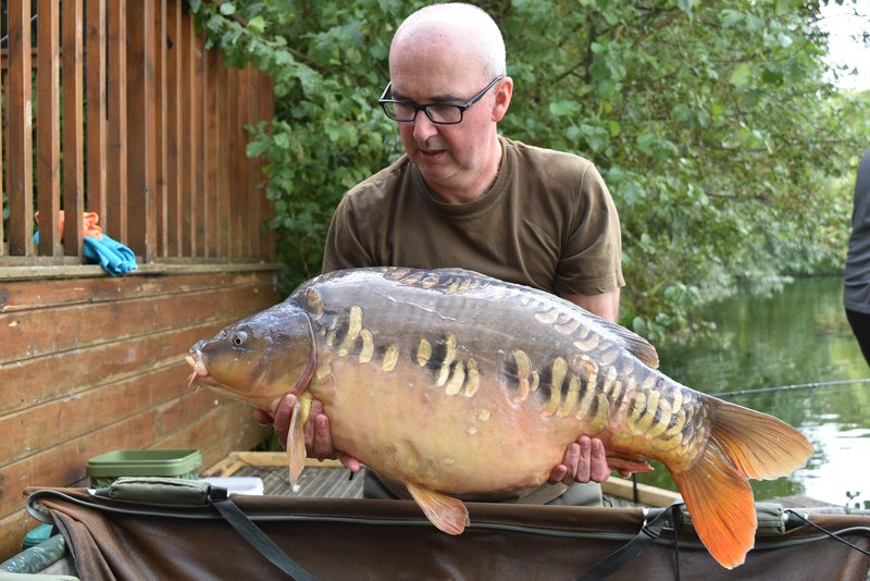 Andrew Perkins with a 'brand-new' mint Mirror of  31-08from Grebe Lodge