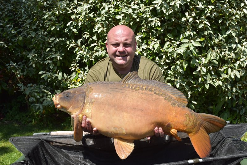 Jamie Vowles with his 32-08 Ghost Mirror from Heron Lodge
