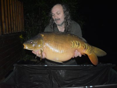 Paul Mitchell with a 36lb Carp from Grebe Lodge on Cherry Lake