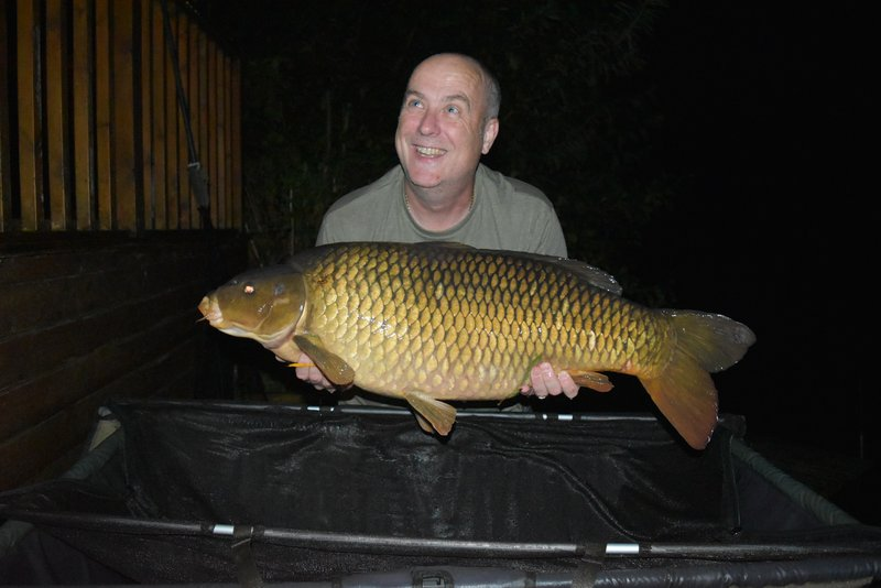 Ian Campbell with his new PB, a 36-02 Common which made him the 150th member of the Cherry Lakes 30+ club.