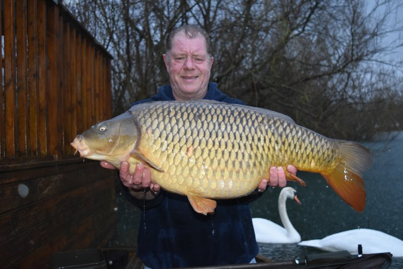 Charlie England with a 30-12 Common. Look how hard it was raining!