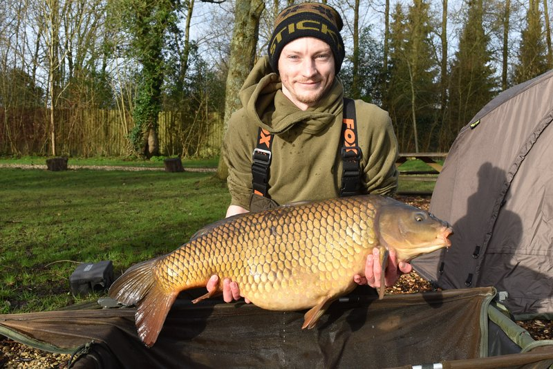 Nick Teague with his new PB. A 34-04 from the  Cherry Lake Cottage swim