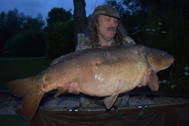 Paul's first carp of his visit was 'Ruby' at 42lb