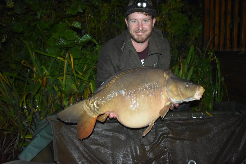 Nathan Lynch with the second of his brace of thirties. A 31-04 Mirror from Osprey Lodge.