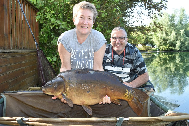 Kerry Guest with a near Leather of 30-01. Her new PB.