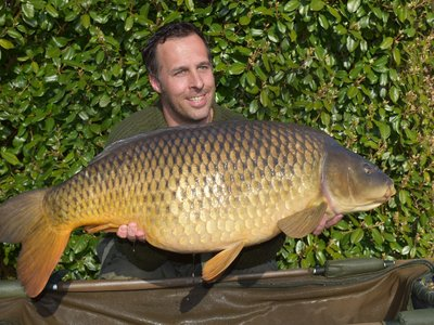 Danny Taylor is clearly very pleased with his 38lb Cherry Lake Common