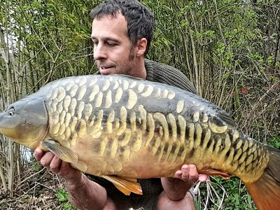 Danny Taylor with a stunning new Cherry Lake 30, a 30-02 Mirror from Osprey Lodge