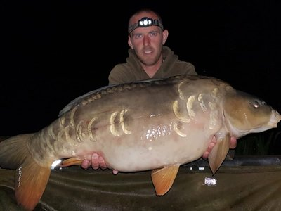 Darren Rouse's birthday treat highlight was this 28lb Cherry Springs Mirror Carp.