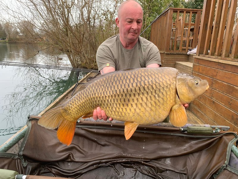 Fishery manager Dave with his new PB Common of 31-10