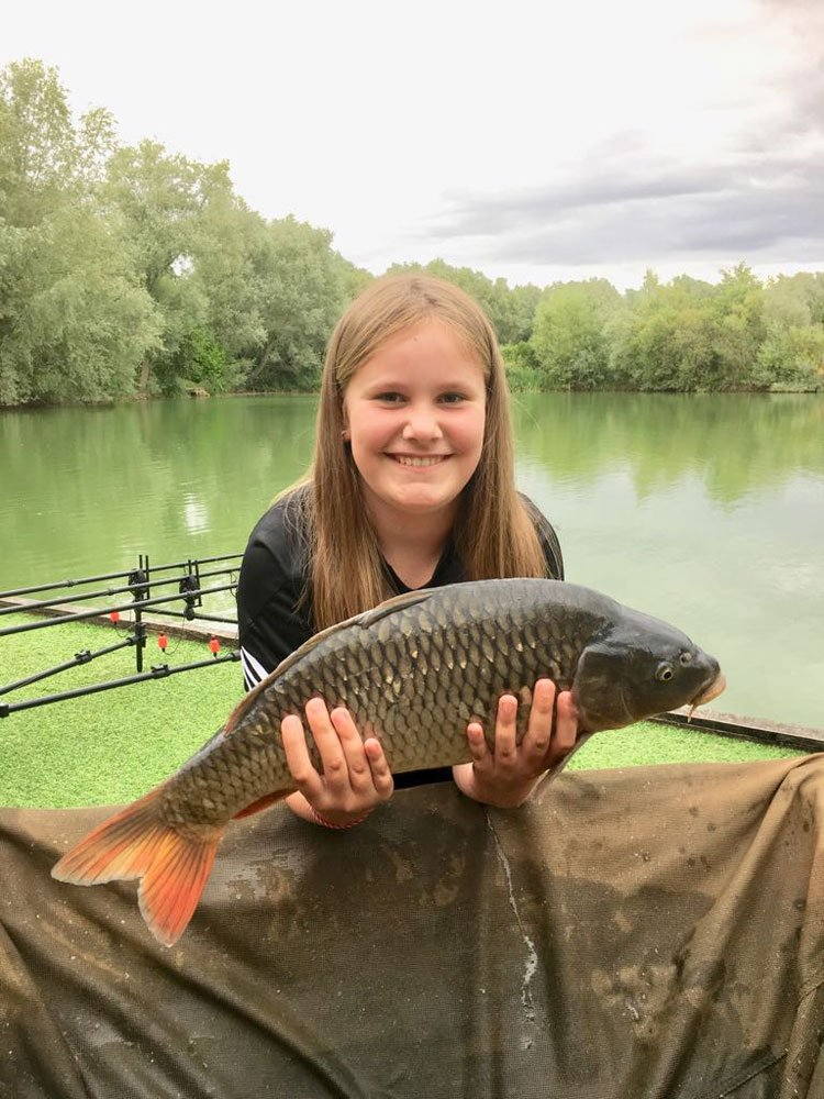 Grace Taylor was delighted with her new PB. A Common of 10-02 from Cherry Mere