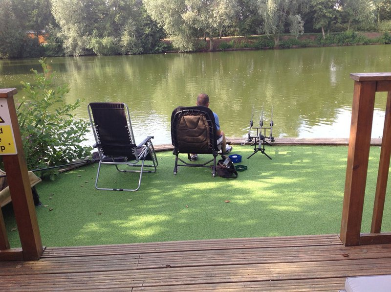 Graham Cresswell enjoying Cherry Springs! Judith's view from Kingfisher Lodge!