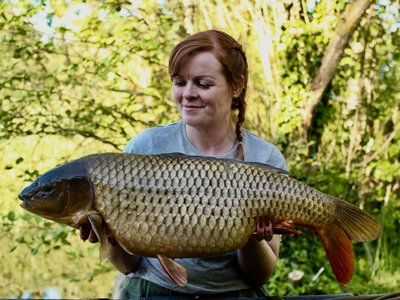Amy Emery with a 20lb Common from Cherry Springs