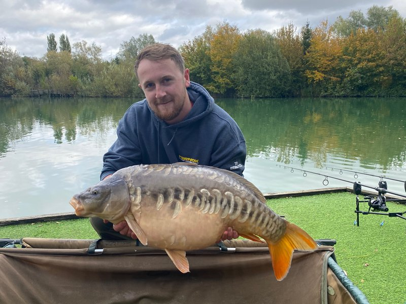 Ben Merrill with his new PB, a 27-04 Mirror