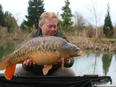 Owner Mike with a stunning 20lb Mirror