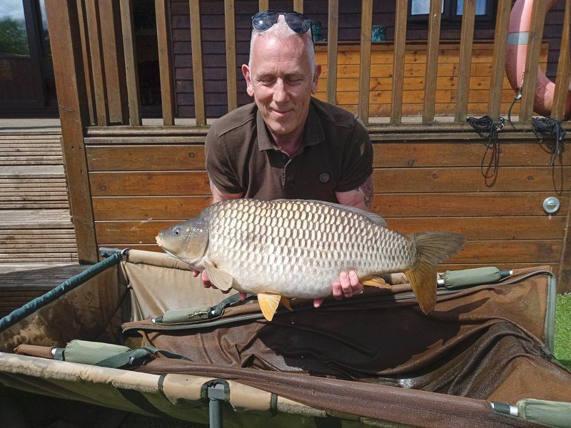 David Heady with a 24lb Cherry Mere Common