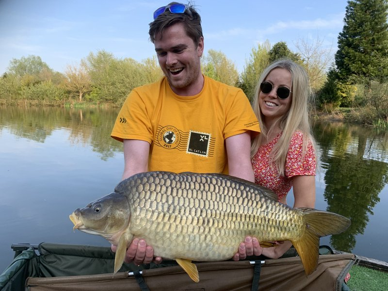 Ben Laidlaw and Victoria were very pleased with this 21lb Cherry Mere Common.