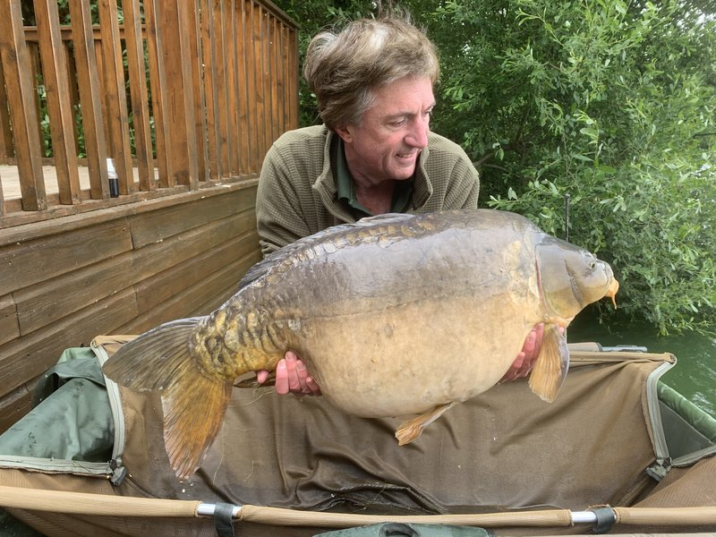 Andy Watts was delighted with the new lake record when he caught Dick at 44-12