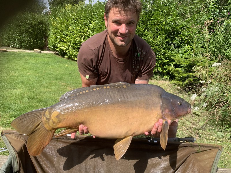 Lee Norcroft with 'Pac-man' at 33-02