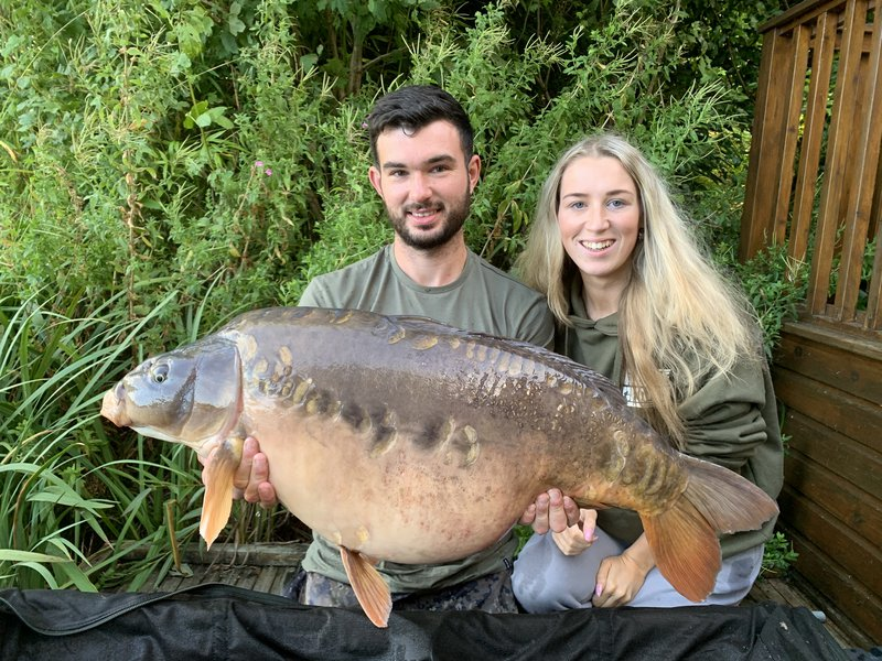 Alex Crouch with Charlotte and a 36-08 Mirror