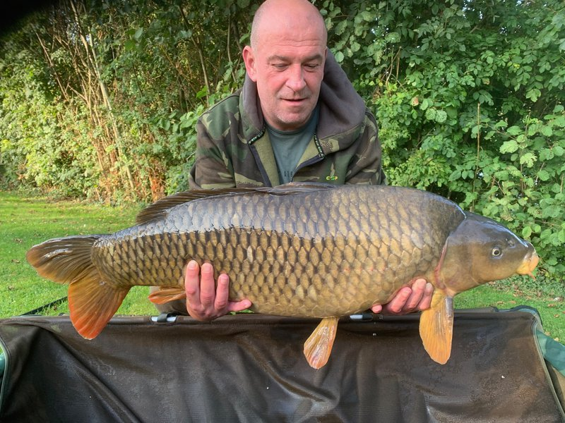Shaun Keown with his new UK PB, a 37-08 Common from Osprey Lodge