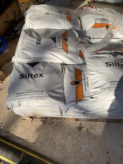 The last of 2 tonne of Siltex.
