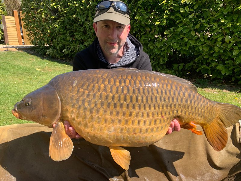 Gavin Harper with the first of two PB's. A 32-10 Common from the Cottage swim.