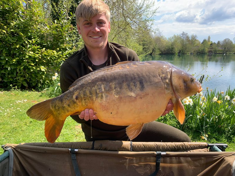 George Lee with his new PB. A Mirror of 29-12