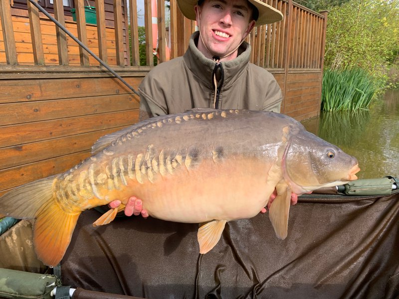 Oscar Taylor with his new PB. A 32-08 Cherry Mere Mirror.