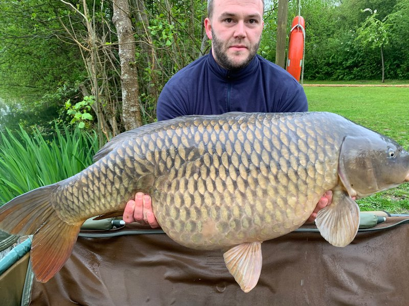 Aaron Hull with his 36-12  Common from Cherry Lake Cottage
