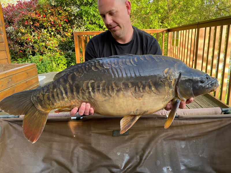 James Smalley with a truly stunning  Mirror of 30-02 from  Heron Lodge on Cherry Lake