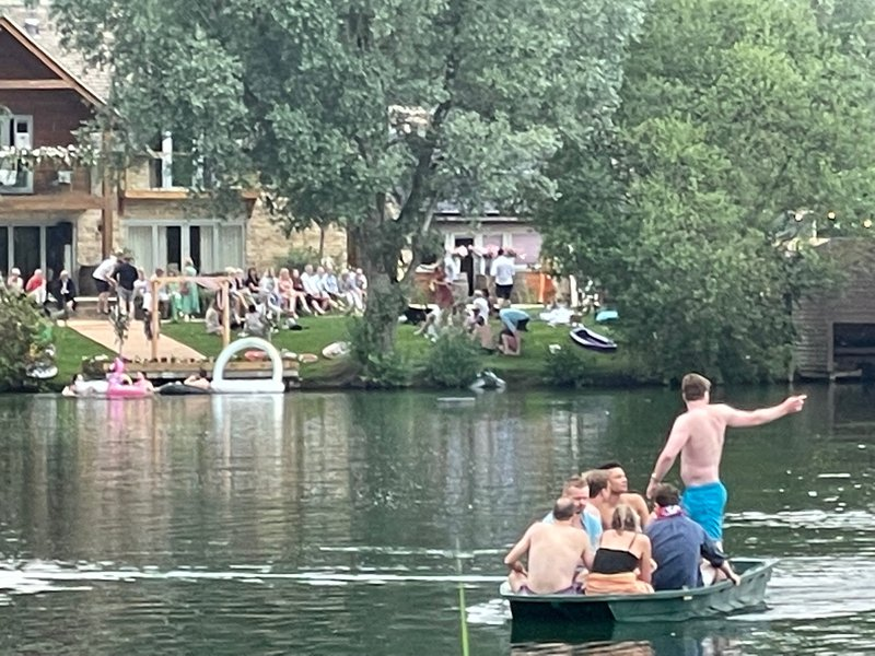 The lake party in full swing!