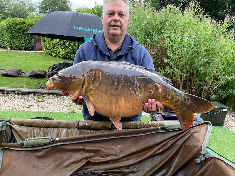 Marcus Roach with his new PB, a 31-02 Mirror