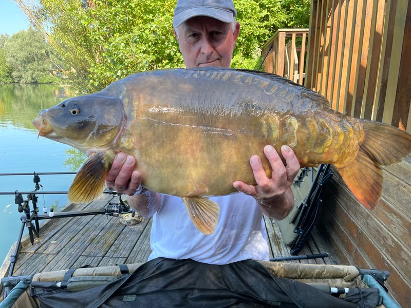 Robert Morphew with his 30lb Mirror from Osprey Lodge