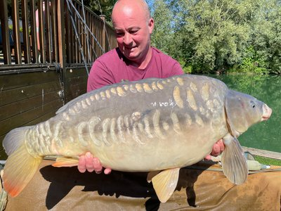 Dave with a 32-02 Cherry Mere Mirror