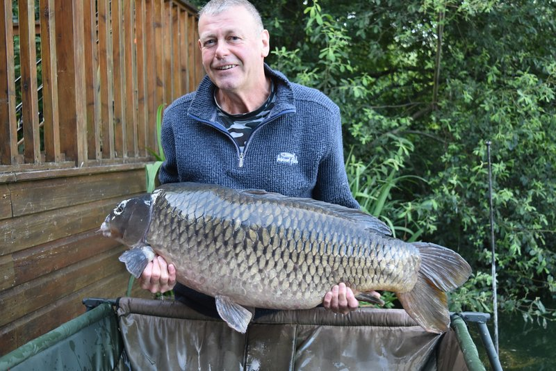 John Carrington with 'The Patch' at 41-08