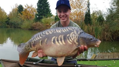 Joshua Rose with an attractive Cherry Mere Carp of 24-06