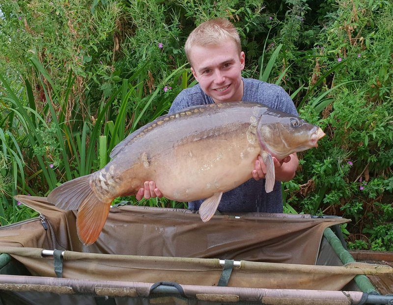 Kristian Clarke with his second 30, this time a Mirror of 30-07
