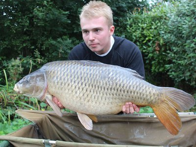 Kristian Clarke with the first of two 30's, a 32-08 Common from Heron Lodge.