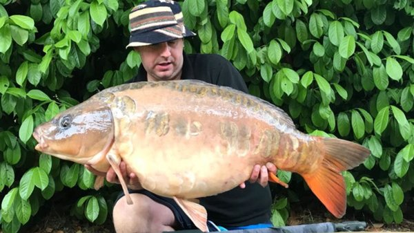 Matthew Blinston with 'The Peach' at 31-14 from Cherry Lake Cottage.